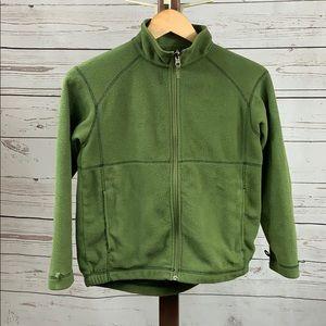 LL Bean Green Zip Fleece Sweater